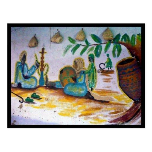 egyptian painting postcard