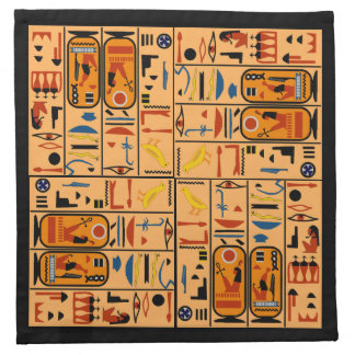 Egyptian Pattern Fashionable Hieroglyphics Napkins