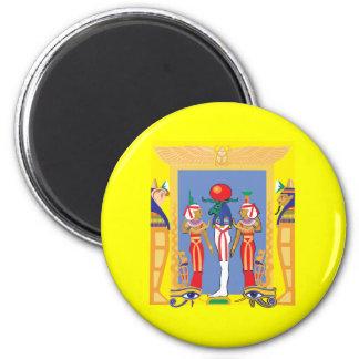 Egyptian Pharaoh 2 Inch Round Magnet