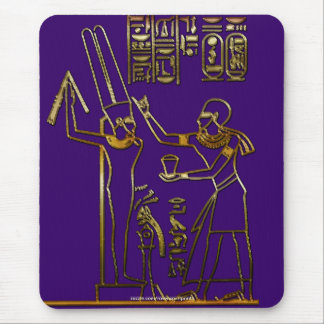 Egyptian Pharaoh and Hieroglyphs Mousepad