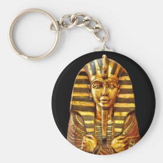 Egyptian Pharaoh Basic Round Button Keychain