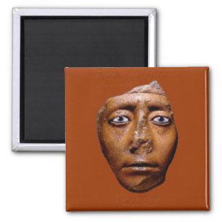 Egyptian Pharaoh Face design 2 Inch Square Magnet