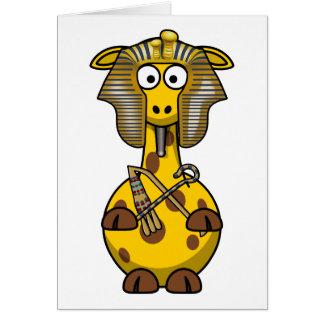 Egyptian Pharaoh Giraffe Greeting Card