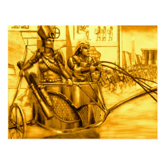 Egyptian Pharaoh in his Chariot Postcard