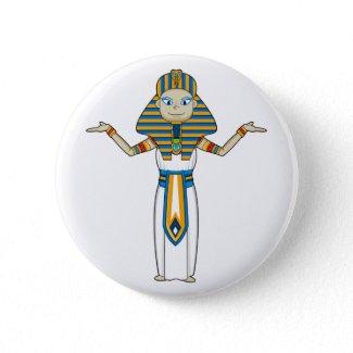 Egyptian Pharaoh King Button button
