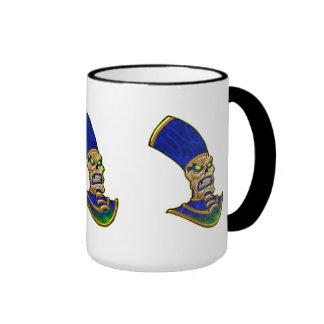 Egyptian Pharaoh King Skull Skeleton Art Coffee Mug