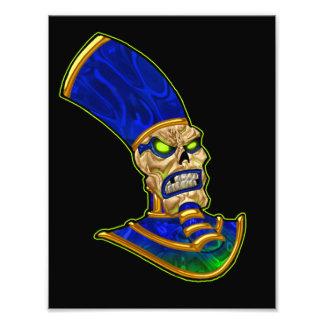 Egyptian Pharaoh King Skull Skeleton Art Photo Print