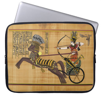 Egyptian Pharaoh Ramesses II & Chariot at Kadesh Computer Sleeve
