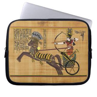 Egyptian Pharaoh Ramesses II & Chariot at Kadesh Laptop Sleeve