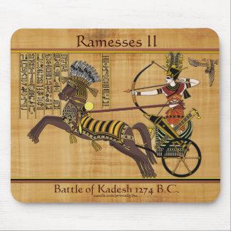 Egyptian Pharaoh Ramesses II & Chariot at Kadesh Mouse Pad