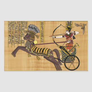 Egyptian Pharaoh Ramesses II & Chariot at Kadesh Rectangular Sticker