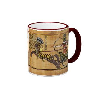 Egyptian Pharaoh Ramesses II & Chariot at Kadesh Ringer Coffee Mug