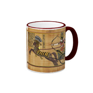 Egyptian Pharaoh Ramesses II & Chariot at Kadesh Ringer Mug