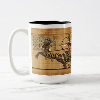 Egyptian Pharaoh Ramesses II & Chariot at Kadesh Two-Tone Coffee Mug