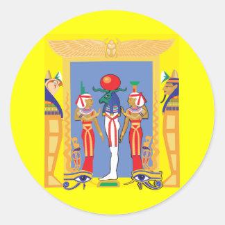 Egyptian Pharaoh Round Stickers