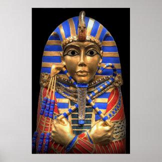 EGYPTIAN PHARAOH'S INNER SARCOPHAGUS POSTER