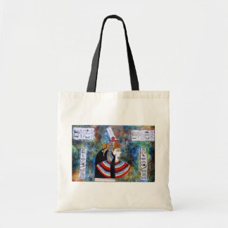 Egyptian Pharoh - King Tut with hieroglyphs Bags