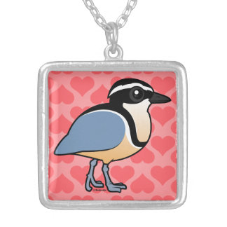Egyptian Plover Silver Plated Necklace
