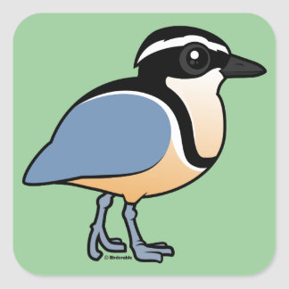 Egyptian Plover Square Sticker