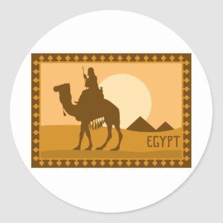 Egyptian Poster Classic Round Sticker