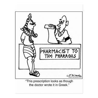 Egyptian Prescription Written In Postcard
