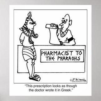 Egyptian Prescription Written In Print