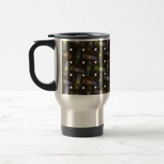 Egyptian Princess Abstract Cross Weave Pattern, Travel Mug