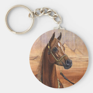 Egyptian Princess Arabian horse keychain