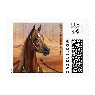 Egyptian Princess Arabian horse  small stamp