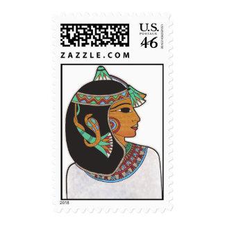 Egyptian Princess Postage Stamp