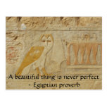 Egyptian proverb about beauty and perfection postcards