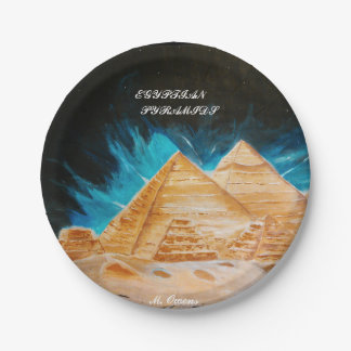 Egyptian Pyramid Style Paper Plates