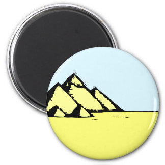 Egyptian Pyramids 2 Inch Round Magnet
