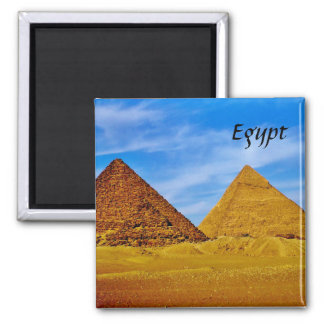 Egyptian Pyramids at Giza 2 Inch Square Magnet