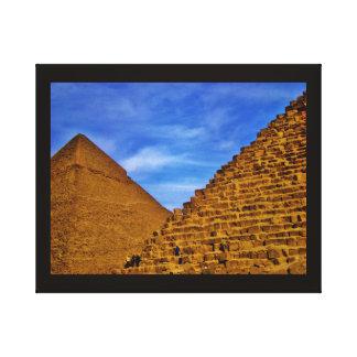 Egyptian Pyramids at Giza Canvas Print