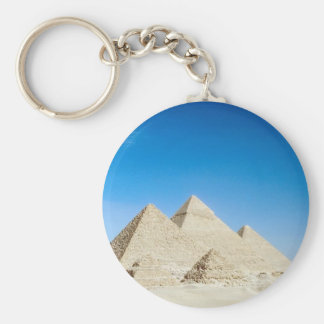 Egyptian Pyramids Basic Round Button Keychain