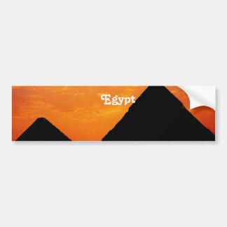 Egyptian Pyramids Car Bumper Sticker