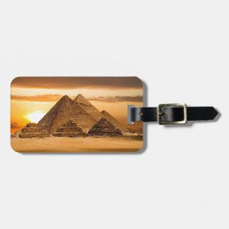 Egyptian pyramids luggage tag