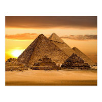 Egyptian pyramids postcard