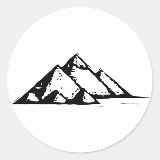 Egyptian Pyramids Round Stickers