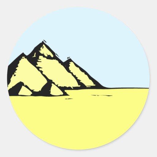 Egyptian Pyramids Round Sticker