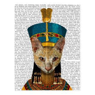 Egyptian Queen Cat Postcard