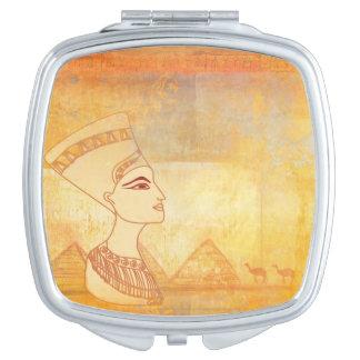 Egyptian queen Cleopatra compact mirror