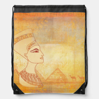 Egyptian queen Cleopatra Drawstring Backpack