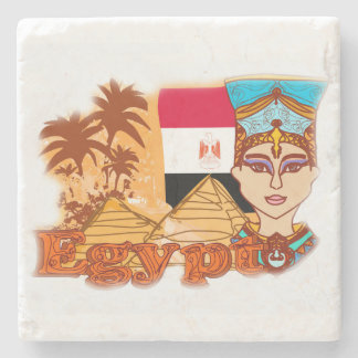 Egyptian queen cleopatra Stone Coaster