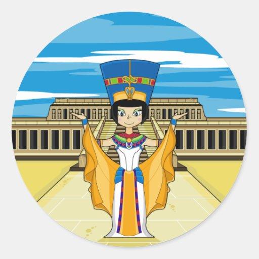 Egyptian Queen Nefertiti at Hatshepsut Sticker
