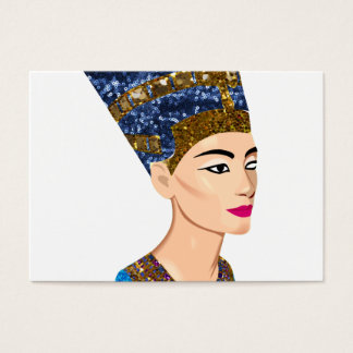 egyptian queen nefertiti business card