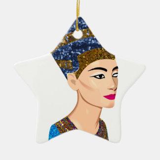 egyptian queen nefertiti ceramic ornament