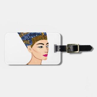 egyptian queen nefertiti luggage tag