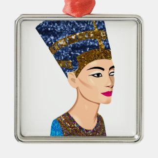 egyptian queen nefertiti metal ornament
